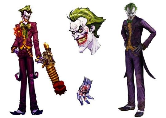 À esquerda, ilustração do personagem Coringa, que é um dos inimigos do Homem-Morcego no game 'Batman Arkham Asylum'. Jogo de ação produzido pela Eidos ('Tomb Raider') será lançado em agosto para PC, Xbox 360 e PlayStation 3. (Foto: Divulgação)