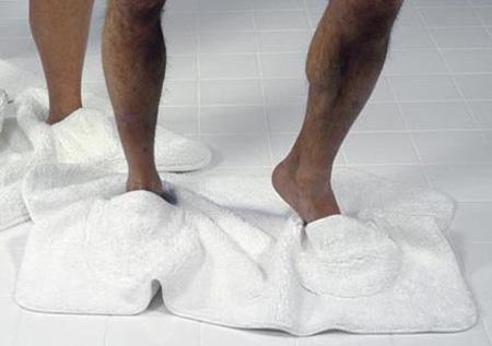 ótimo para manter seus pés limpos e quente depois de um banho de luxo.
